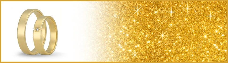 9 karaat gouden trouwringen