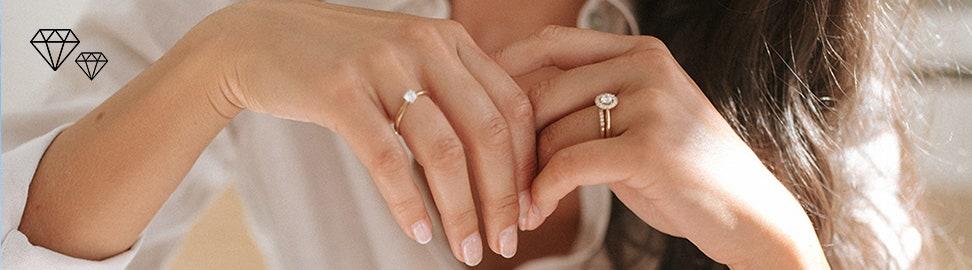 Geelgouden ringen met diamant