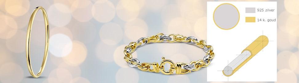 Zilgold armband