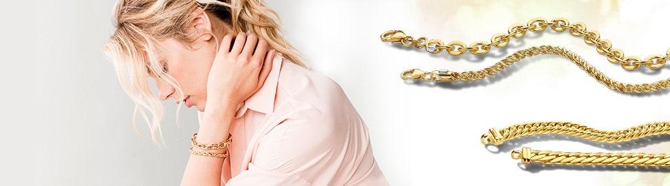 Gouden schakelarmbanden