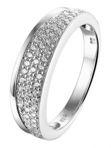 TC-41889 Zilveren ring met zirkonia 7 mm