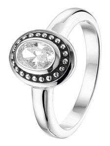 TC-41742 Zilveren ring met zirkonia 10,5 mm