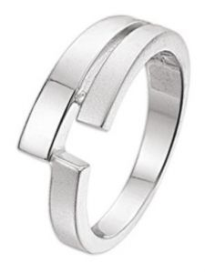 TC-13253 Zilveren ring met 0,007 ct diamant