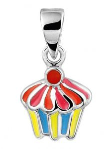 Treasure Collection TC-41761 Zilveren hanger cupcake