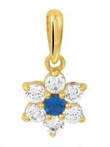 Treasure Collection TC-44893 Gouden hanger met zirkonia blauw C167