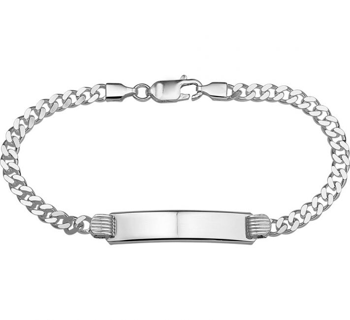 Treasure Collection TC-3148 Zilveren heren naamplaat armband