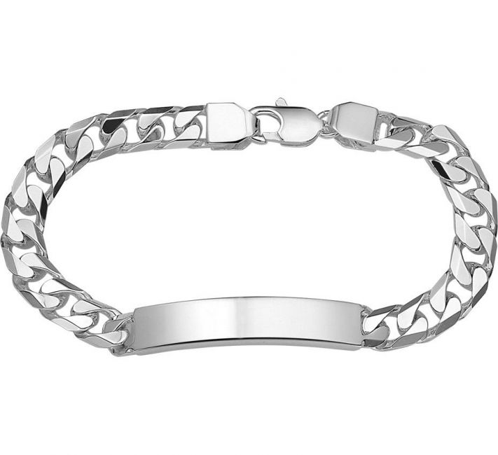 Treasure Collection TC-22340 Zilveren heren naamplaat armband