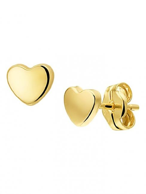 Treasure Collection TC-42821 Gouden oorknoppen hart 4x5 mm