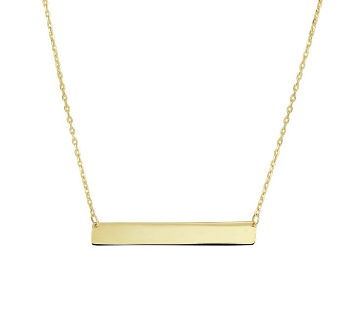 Treasure Collection TC-40862 Gouden 14 krt ketting met graveerplaat