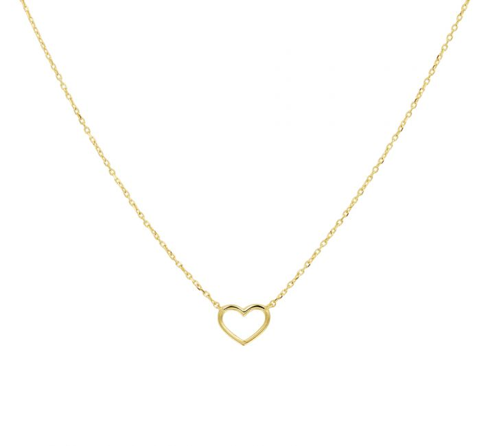 Treasure Collection TC-43820 Gouden ketting hart
