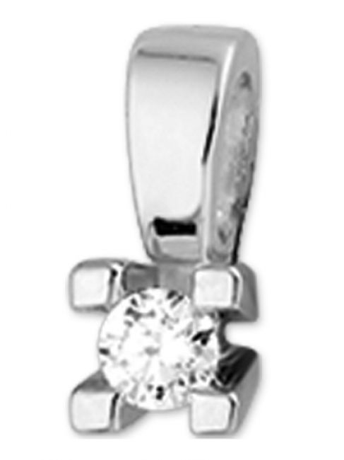 Treasure Collection TC-36196 14 karaat witgouden hanger met 0,10 ct diamant