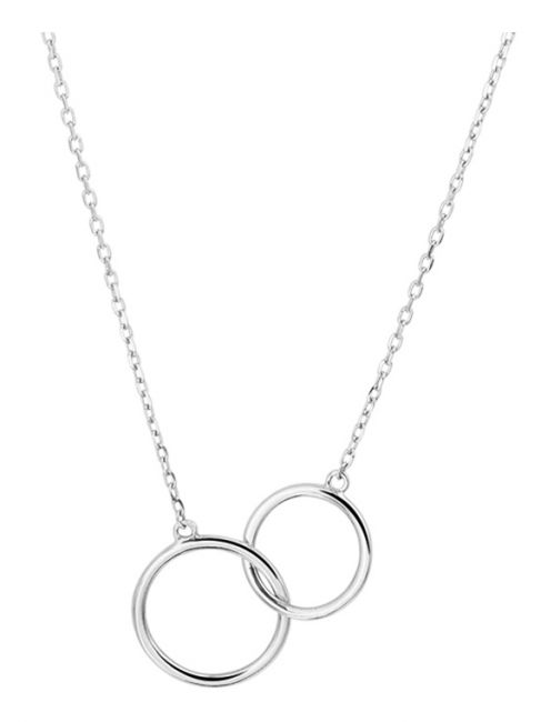 Treasure Collection TC-40904 Witgouden 14 krt ketting met cirkels