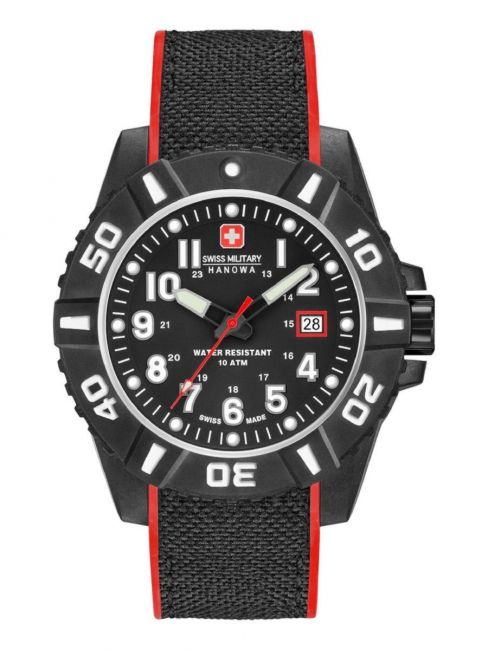 Swiss Military Hanowa 06-4309.17.007.04 Black Carbon herenhorloge