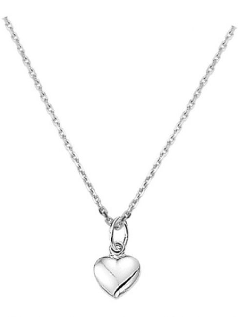 Treasure Collection TC-42638 Zilveren ketting met hartje