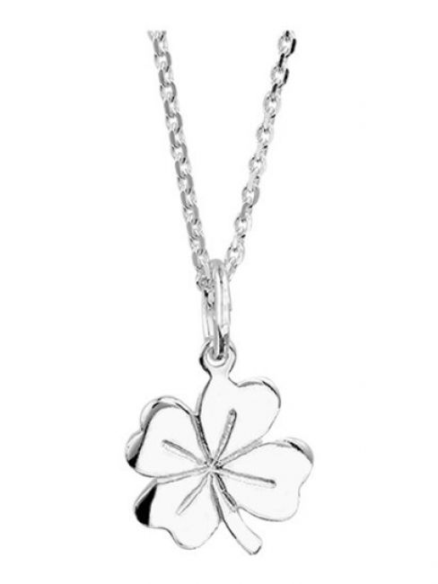 Treasure Collection TC-42643 Zilveren ketting met klaver
