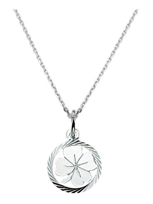 Treasure Collection TC-42644 Zilveren ketting met klavertje