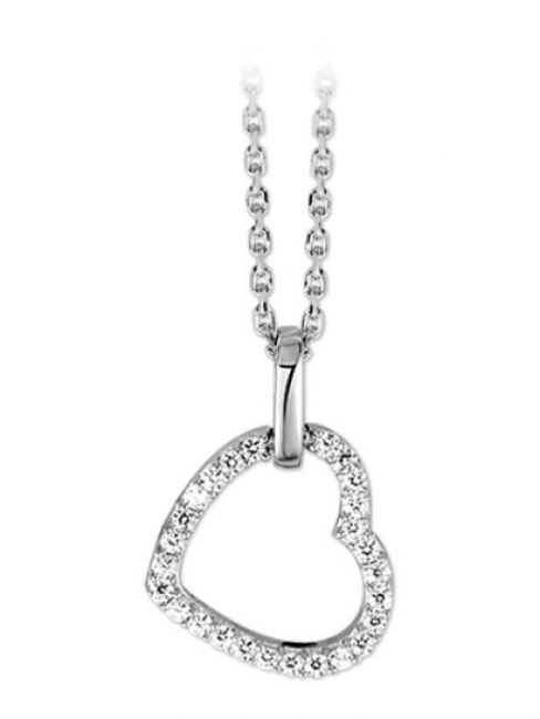Treasure Collection TC-42659 Ketting met hart zirkonia