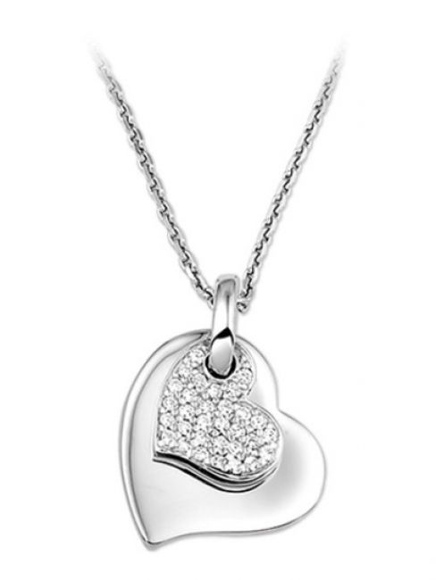 Treasure Collection TC-42660 Ketting met hart zirkonia