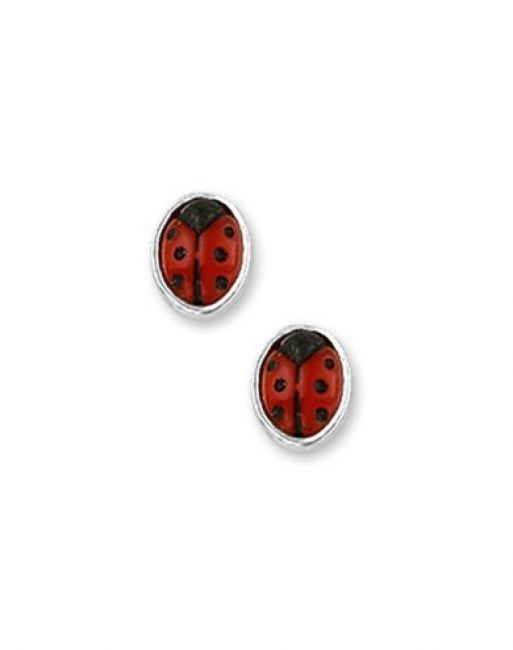 Treasure Collection TC-43065 Oorknoppen lieveheersbeestjes zilver 5x4 mm
