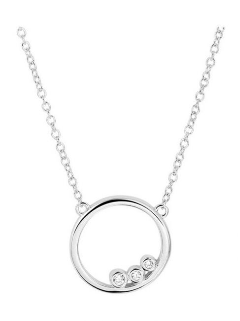 Treasure Collection TC-44283 Zilveren ketting met rondje