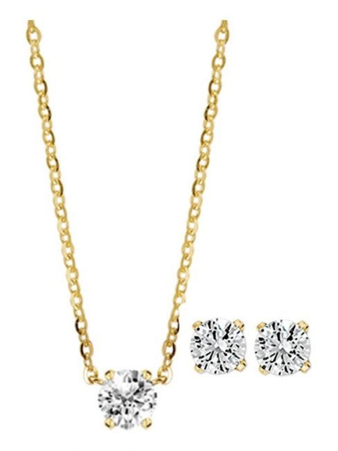 Treasure Collection TC-39165SET Geelgouden sieradenset met zirkonia