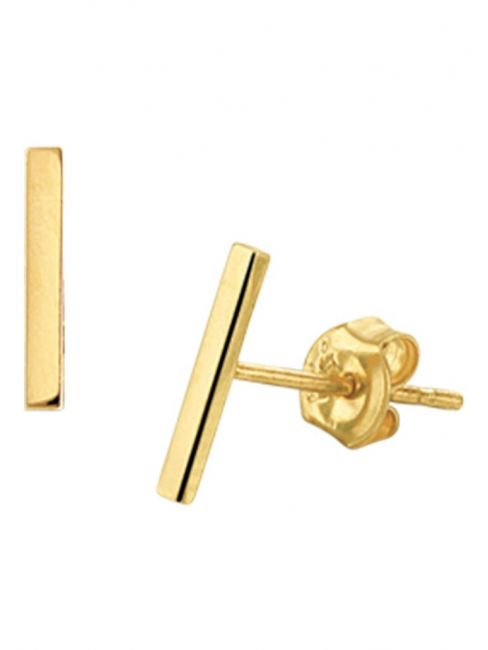 Treasure Collection TC-45738 Gouden oorknoppen 8,5x2 mm