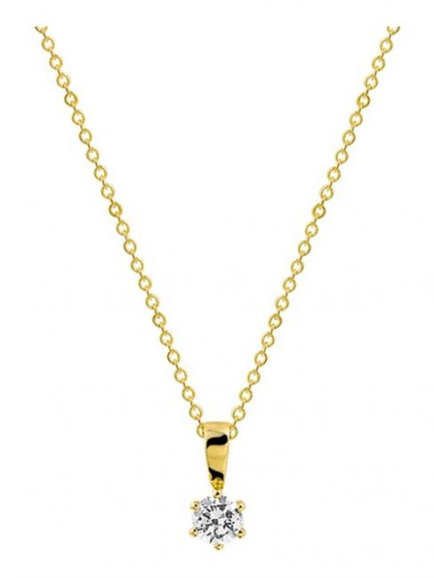 Treasure Collection TC-41865 Gouden ketting met zirkonia