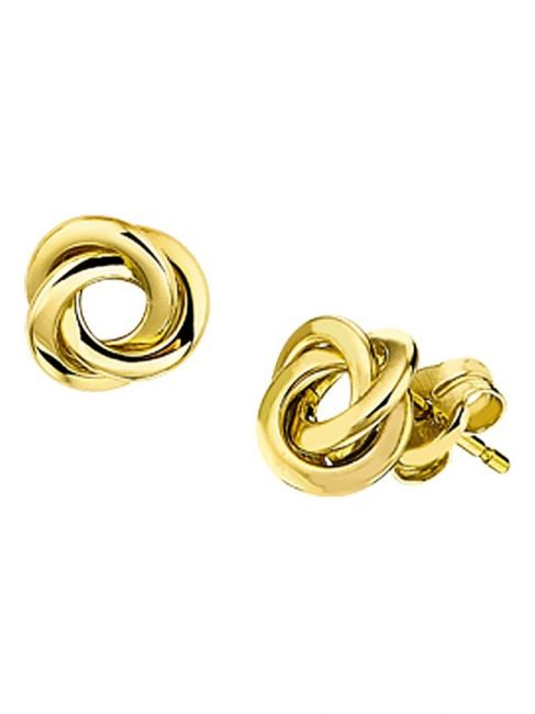 Treasure Collection TC-42818 Gouden oorknoppen knoop 6,5x6,5 mm