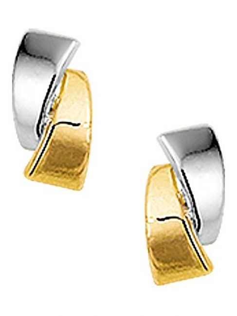 Treasure Collection TC-42825 Bi-color gouden oorknoppen 7x4 mm
