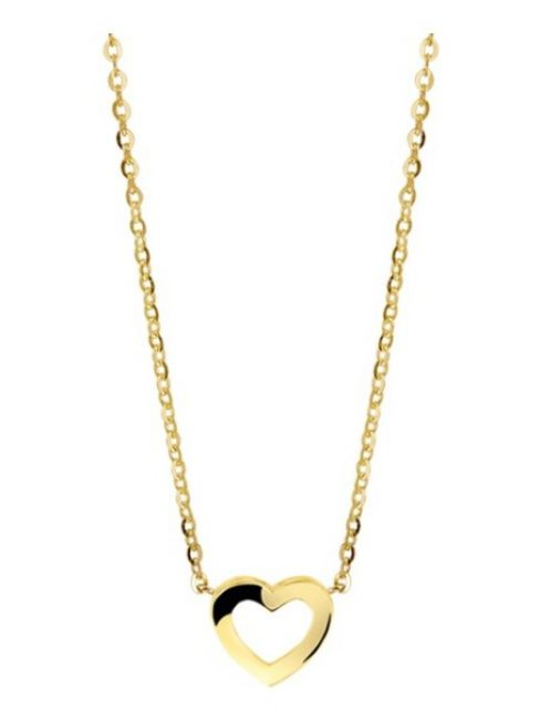 Treasure Collection TC-42958 Gouden ketting hartje