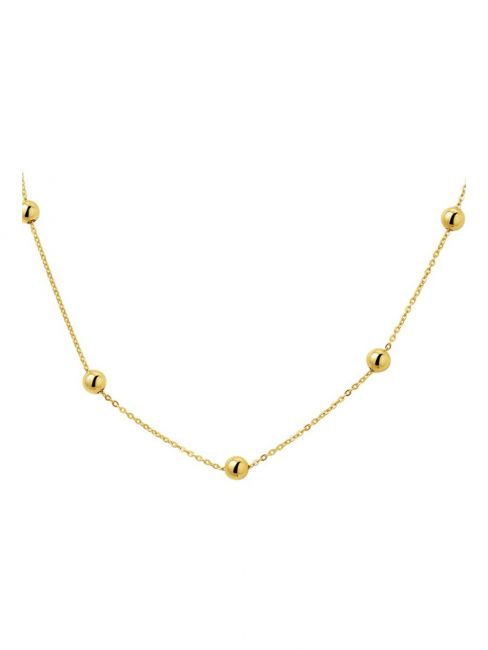 Treasure Collection TC-41337 Gouden ketting bolletjes