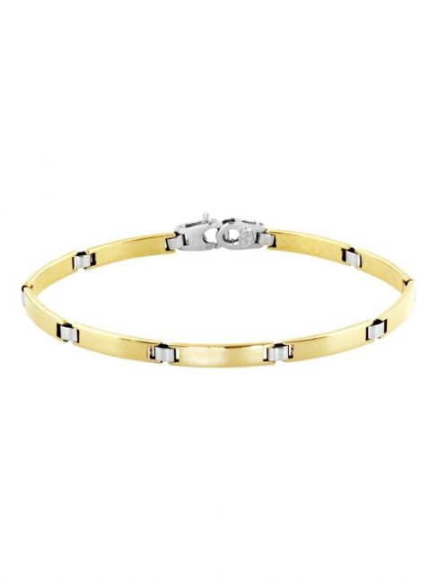 Treasure Collection TC-40922 Bicolor gouden 14 krt armband