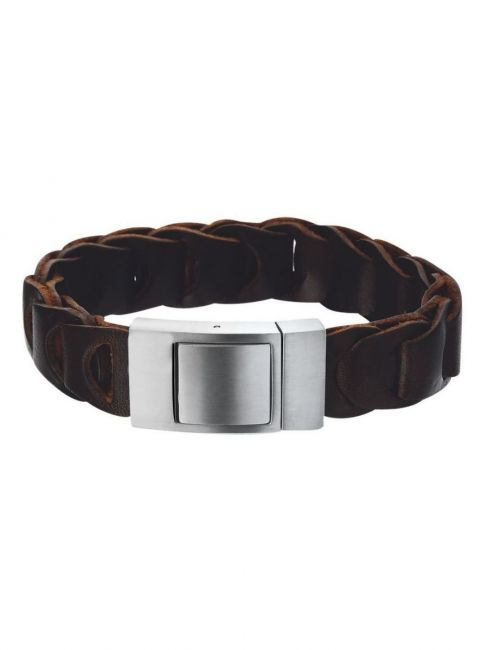 Treasure Collection TC-39078 Leren armband bruin