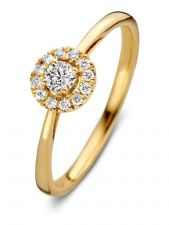 Aurore RA15100020 Emma 18 karaat gouden ring met 0,20 ct lab grown diamant