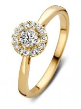 Aurore RA15100030 Emma 18 karaat gouden ring met 0,30 ct lab grown diamant