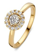 Aurore RA15100050 Emma 18 karaat gouden ring met 0,50 ct lab grown diamant