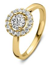 Aurore RA15100075 Emma 18 karaat gouden ring met 0,75 ct lab grown diamant
