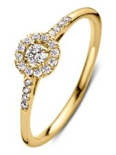 Aurore RA15110020 Emma Royal 18 karaat gouden ring met 0,20 ct lab grown diamant