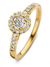 Aurore RA15110050 Emma Royal 18 karaat gouden ring met 0,50 ct lab grown diamant