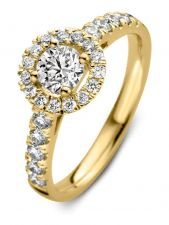 Aurore RA15110100 Emma Royal 18 karaat gouden ring met 1,00 ct lab grown diamant