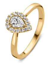 Aurore RA15200030 Elin 18 karaat gouden ring met 0,30 ct lab grown diamant