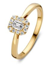 Aurore RA15300030 Ivy 18 karaat gouden ring met 0,30 ct lab grown diamant