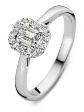 Aurore RA25300066 Ivy 18 karaat gouden ring met 0,66 ct lab grown diamant