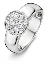Excellent Jewelry RG214873 14 karaat witgouden ring met 0,50 ct diamant