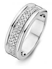 Excellent Jewelry RG215412 14 karaat witgouden ring met 0,25 ct diamant