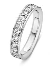 Excellent Jewelry RG216214 14 karaat witgouden ring 4 mm met 0,77 ct diamant
