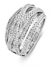 Excellent Jewelry RG216514 14 karaat witgouden ring met 0,68 ct diamant