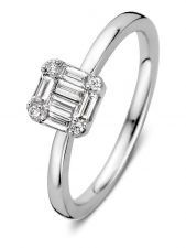 Excellent Jewelry RG217008 14 karaat witgouden ring met 0,29 ct diamant