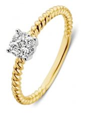 Excellent Jewelry RG416662 14 karaat gouden ring met 0,18 ct diamant