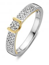 Excellent Jewelry RG416838 14 karaat bicolor gouden ring met 0,36 ct diamant